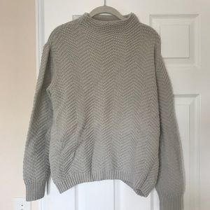 Gap cable knit mock neck sweater